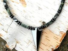 ARROW Pendant Men's Magnetic Hematite Necklace African Turquoise THERAPEUTIC