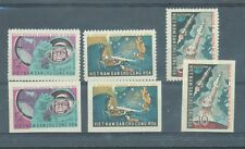North Vietnam 1962 Space Vostok 3-4 sg.N242-4  perf and imperf sets MNH