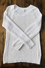 Sonoma Long Sleeve Knit Sweater Cream Size M Medium EUC! ✨