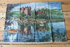 Ancien torchon décors château du Val à bort les orgues - Création ???