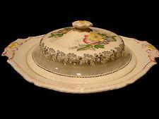 Ridgways china covered  porcelain vegetable bowl, devon- ware pattern.