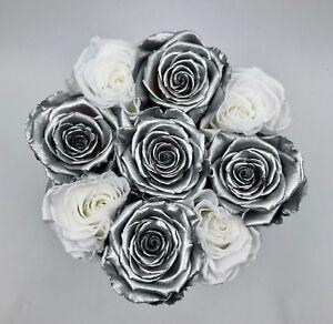 Luxuriöse Blumenbox, Rosenbox mit konservierten Rosen, Flowerbox, Infinity-Rosen