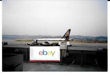 OLYMPIC AIRWAYS GREECE BOEING 737-200 AT CORFU AIRPORT PHOTO 1989