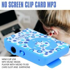 Mini Clip Usb Mp3 Music Media Player with Micro Tf/Sd Card Slot and Earphon G9O4
