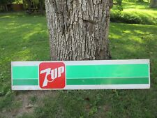 "Vintage 7 UP Soda Pop Metal Advertising Sign Large 48"" x 10"""