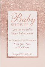 Girls Baby Shower Greeting Invitations For Sale Ebay