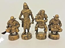 4 Pcs LOTR Cake Toppers Uruk-Hai Goblin Orc Lord of the Rings Chess Replacement