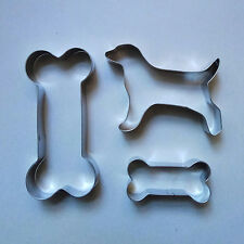 2 size Dog Bone & Dog Biscuit Fondant Baking stainless steel cookie cutter set