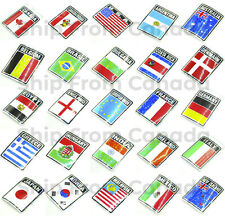 High Quality Country Flag Stickers 3x4 Decal Metallic Prismic Bumper Sticker