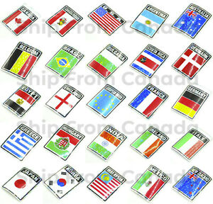 """High Quality Country Flag Stickers 3""""X4"""" Decal - Metallic Prismic Bumper Sticker"""