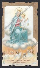 SANTA LEGA EUC. n° 9111 - MADONNA DEL CARMELO - SANTINO HOLY CARD IMAGE PIEUSE