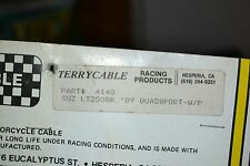 "NOS Terrycable Suzuki ""Whirlpull"" Throttle cable #4148 89'-91' LT250SK Quadsport"