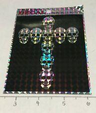 Cross Skulls Holographic Decal Biker Badass Sticker 90s/2000s Multipurpose Nos