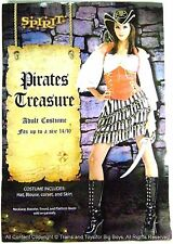 PIRATES TREASURE HALLOWEEN COSTUME WOMEN'S SIZE Up to 14-16 Pirate Wench New I
