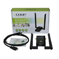 Dual Band + 2 Antenna USB 3.0 Wireless WiFi 802.11AC Adapter 1200Mbps WPS Linux