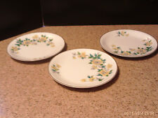 3 Bread and Butter Salad Plates Noritake China Made in Japan N64 Yellow Roses