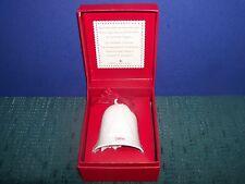 White Porcelain Christmas Bell-Hallmark in Original Gift Box