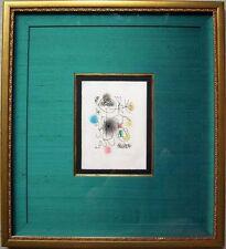 "JOAN MIRO Hand Signed 1968 Color Etching & Aquatint - ""Midi le trèfle blanc"""
