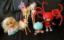 Poupées bundle. Lalaloopsy. Mattel Barbie. Cheval. Disney