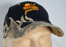 Pheasants Forever Camo Flames Hat Black Baseball Ball Cap Lid Bird Fowl Hunting