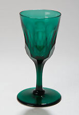 Antique Georgian Scale Cut Wine Drinking Glass in Bristol Green Colour c1810