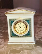 Lenox Porcelain Classic Edition Clock Green Marble Design EUC VINTAGE