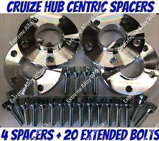 Separadores de Rueda de Aleación 15mm x2 20mm x2 Negro BIMECC Pernos M14X1.25 Para BMW X1 72.6