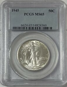 1945 Walking Liberty Half Dollar PCGS MS65