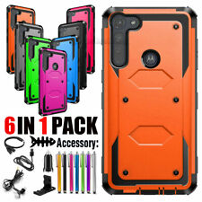 For Motorola Moto G8 Play/Plus/Power/One Macro Phone Case Hard Cover+Accessories