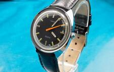 VINTAGE 1971 TIMEX MENS BLACK FACED ELECTRIC WATCH IN MINTY SHAPE!