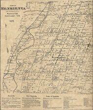 Henrietta Riga Scottsvile North Chili NY 1872 Maps with Homeowners Names Shown