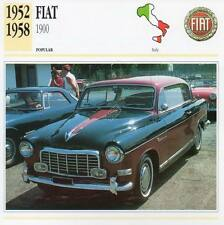 1952-1958 FIAT 1900 Classic Car Photograph / Information Maxi Card