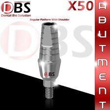 50X Dental Titanium Straight Abutment Shoulder Regular for Implant 2.42 Hex lab