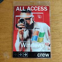 Microsoft Windows XP Launch Pass.  Show Day Crew Pass. Keynote.