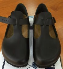 Birkenstock Paris 065191 Euro size 38 L7~7.5 Regular Black Smooth Leather Shoes
