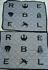 2 Star Wars Rebel Emblem Quilted Pillow Sham Standard Gray Black