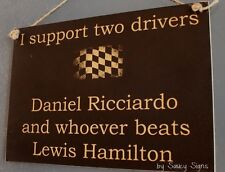 Daniel Ricciardo Beats Lewis Hamilton Formula One 1 Grand Prix GP Red Bull Sign
