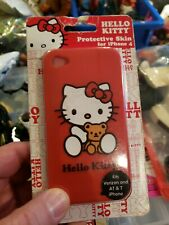 Protective Skin for iPhone 4 Red Hello kitty