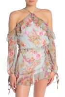Raga Women's Morning Floral Cold Shoulder Blouse Top XS NWT N1129