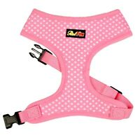 Pink Polka Dot Dog Harness - Pink Dog and Puppy Harness - XS to XL - RichPaw