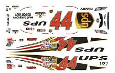 #44 Dale Jarrett Toyota 1/32nd Scale Slot Car Waterslide Decals