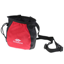 Outdoor Rock Climbing Climbers Gym Addict Chalk Bag with Adjustable Belt Red