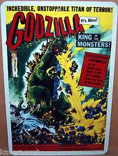 Godzilla Titan of Terror 1956 Movie Poster - 8x12 Aluminum Sign Made in the USA