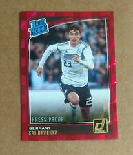 Germany: Kai Havertz Rated Rookie Red Press Proof Parallel 2019 Panini Donruss