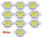 Durable 10Pcs DC 10W White 800-900LM DIY SMD LED Lamp Bead Bulb Chip