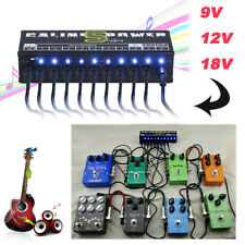 9V 12V 18V 10CH Guitar Pedal Board Effect Isolated Output Power Supply 1 / 7 Way