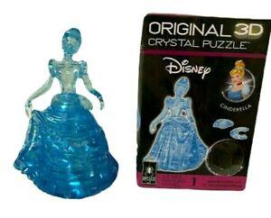 Bepuzzled Original 3D Crystal Puzzle Disney Princess Cinderella Blue 41 Pieces