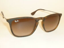 New RAY BAN Chris Sunglasses Matte Tortoise Frame  RB 4187 856/13 Gradient Brown
