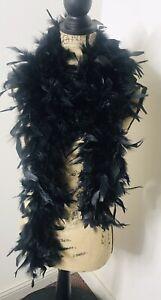 Black Feather 6 ft Halloween Costume Accessory Burlesque