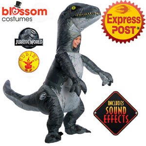 CK1204 Kids Jurassic World 2 Velociraptor with Sound Inflatable Dinosaur Costume